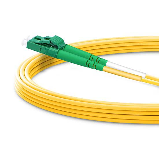 LC APC to LC APC Duplex 2.0mm PVC (OFNR) 9/125 Single Mode Fiber Patch Cable