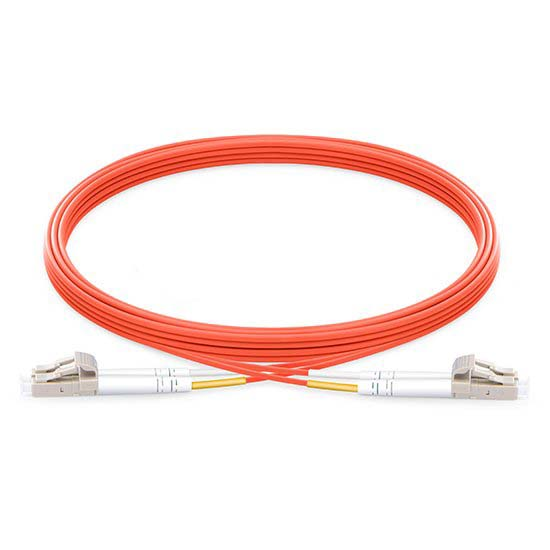 LC UPC to LC UPC Duplex 2.0mm PVC (OFNR) OM2 Multimode Fiber Optic Patch Cable
